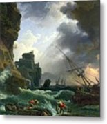 The Storm Metal Print by Claude Joseph Vernet