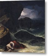 The Storm Or The Shipwreck Metal Print by Theodore Gericault