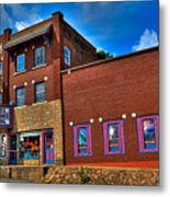 The Strand Theatre - Old Forge New York Metal Print by David Patterson