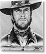 The Stranger Bw 2 Version Metal Print by Andrew Read