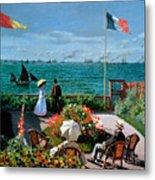 The Terrace At Sainte Adresse Metal Print by Claude Monet