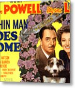 The Thin Man Goes Home, William Powell Metal Print by Everett