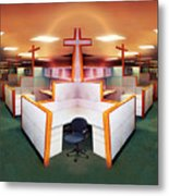 The Three Crosses Metal Print by Simon Currell