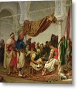 The Turkish Cafe Metal Print by Charles Marie Lhuillier