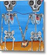 The Two Skeletons Metal Print by Jaz Higgins