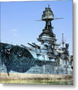 The U.s.s. Texas Metal Print by JC Findley