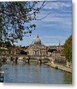 The Vatican By Day Metal Print by Michelle Sheppard