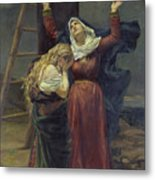 The Virgin At The Foot Of The Cross Metal Print by Jean Joseph Weerts