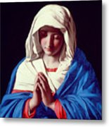 The Virgin In Prayer Metal Print by Il Sassoferrato