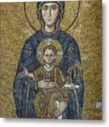 The Virgin Mary Holds The Child Christ On Her Lap Metal Print by Ayhan Altun