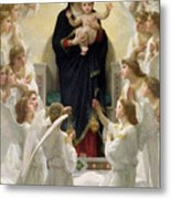 The Virgin With Angels Metal Print by William-Adolphe Bouguereau