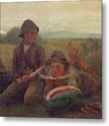 The Watermelon Boys Metal Print by Winslow Homer