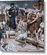 The Wine Mixed With Myrrh Metal Print by Tissot
