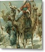 The Wise Men Seeking Jesus Metal Print by Ambrose Dudley