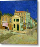 The Yellow House Metal Print by Vincent Van Gogh