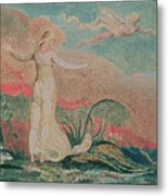 Thel In The Vale Of Har Metal Print by William Blake