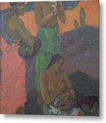 Three Women On The Seashore Metal Print by Paul Gauguin