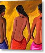 Three Women With Tattoos Metal Print by Sweta Prasad