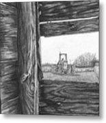 Through The Barn Metal Print by Dean Herbert