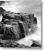 Thunder Along The Acadia Coastline - No 1 Metal Print by Thomas Schoeller