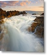 Tidal Surge Metal Print by Mike  Dawson