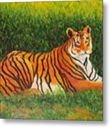 Tiger Metal Print by Lore Rossi