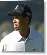 Tiger Woods Metal Print by Chuck Kuhn