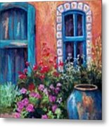 Tiled Window Metal Print by Candy Mayer