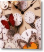 Time Flies Metal Print by Garry Gay