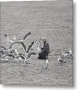 Time With Grandpa Metal Print by Angi Parks