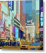 Times Square New York Metal Print by Russ Harris