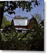 Tin Roofed Barn Metal Print by Richard Gregurich