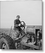 Tip Estes, A Hired Hand On An Indiana Metal Print by Everett