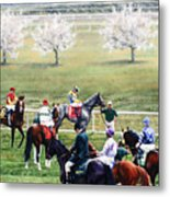 To The Gate At Keeneland Metal Print by Thomas Allen Pauly