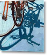Together - City Bikes Metal Print by Linda Apple