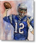 Tom Brady Metal Print by Michael  Pattison
