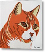 Tom Cat Metal Print by Slade Roberts