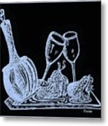 Topsy Turvy Tray - First Kiss Metal Print by Eloise Schneider