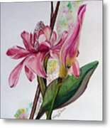 Torch Ginger  Lily Metal Print by Karin  Dawn Kelshall- Best