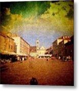 Town Square #edit - #hvar, #croatia Metal Print by Alan Khalfin
