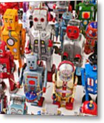 Toy Robots Metal Print by Garry Gay
