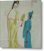 Tr 024 High-ranked Imperial Concubine Come Out Bath Metal Print by Mojie Wang