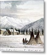 Trading Outpost, C1860 Metal Print by Granger