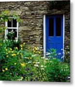Traditional Cottage, Co Cork Metal Print by The Irish Image Collection