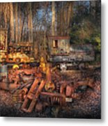 Train - Yard - Do It Yourself Kit Metal Print by Mike Savad