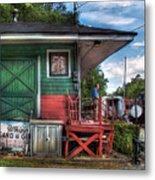 Train - Yard - The Train Station Metal Print by Mike Savad
