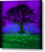 Tree Of Life - Purple Sky Metal Print by Robert R Splashy Art