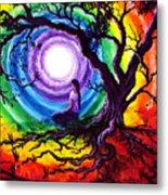 Tree Of Life Meditation Metal Print by Laura Iverson