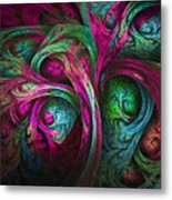 Tree Of Life-pink And Blue Metal Print by Tammy Wetzel