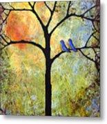 Tree Painting Art - Sunshine Metal Print by Blenda Studio